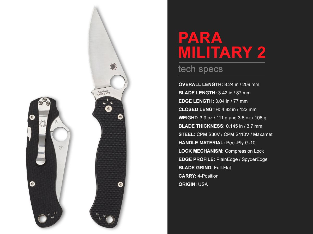 Navaja Paramilitary 2 características